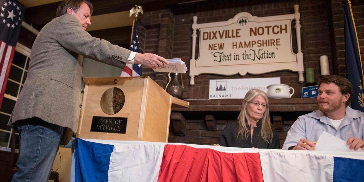 In Dixville Notch dürften die Wahlen schon abgeschlossen sein.