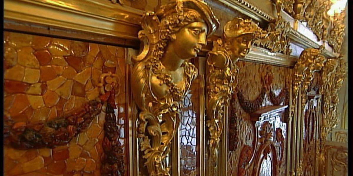 Ein Detail aus einer Rekonstruktion des Bernsteinzimmers.