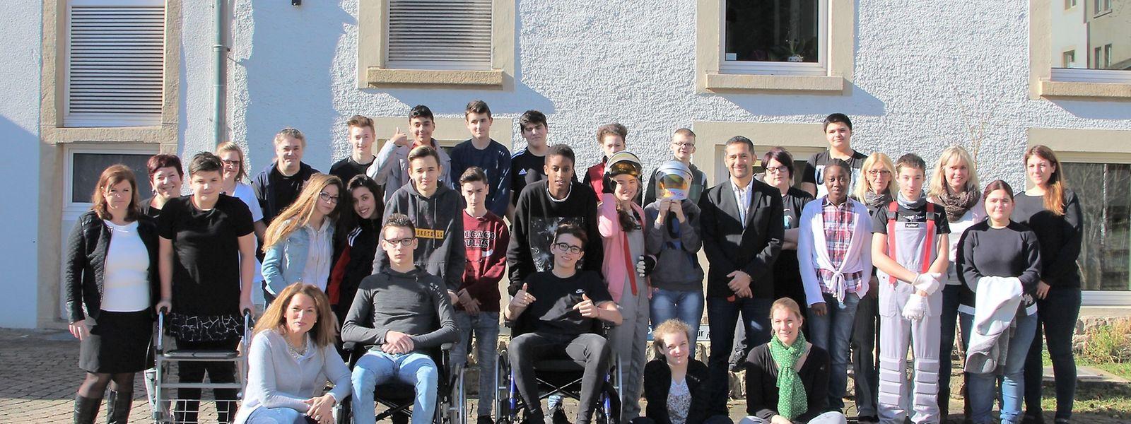 """25 Schüler des """"Lënster Lycée"""", im Alter von 14 bis 16 Jahren, beteiligen sich an dem Projekt."""