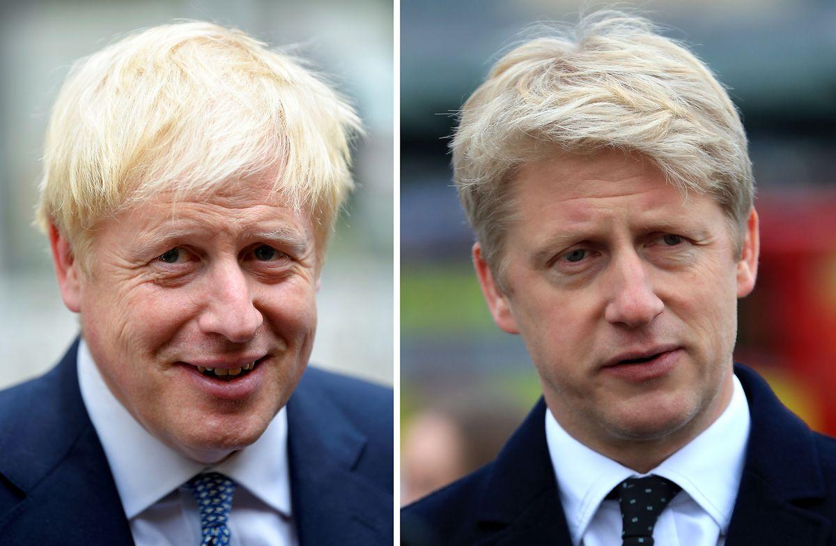 Boris e o irmão Jo Johnson.