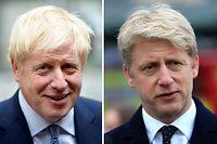 ARCHIV - 05.09.2019, Großbritannien, London: KOMBO - Diese Kombo zeigt Boris Johnson (l), Premierminister von Großbritannien, und seinen Bruder Jo Johnson, ebenfalls Politiker. Jo Johnson hat sein Amt als Staatssekretär und auch sein Mandat als Parlamentsabgeordneter für die Konservativen niedergelegt. Premierminister Johnson gerät wegen seines kompromisslosen Brexit-Kurses immer stärker unter Druck aus den eigenen Reihen. Foto: Pa/PA Wire/dpa +++ dpa-Bildfunk +++