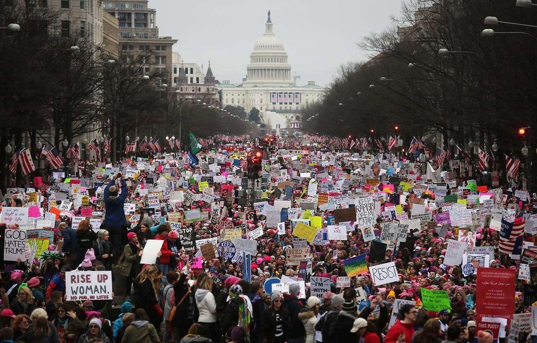 Allein für Washington wurde die Zahl der Teilnehmer auf knapp eine Million Frauen und Männer geschätzt.