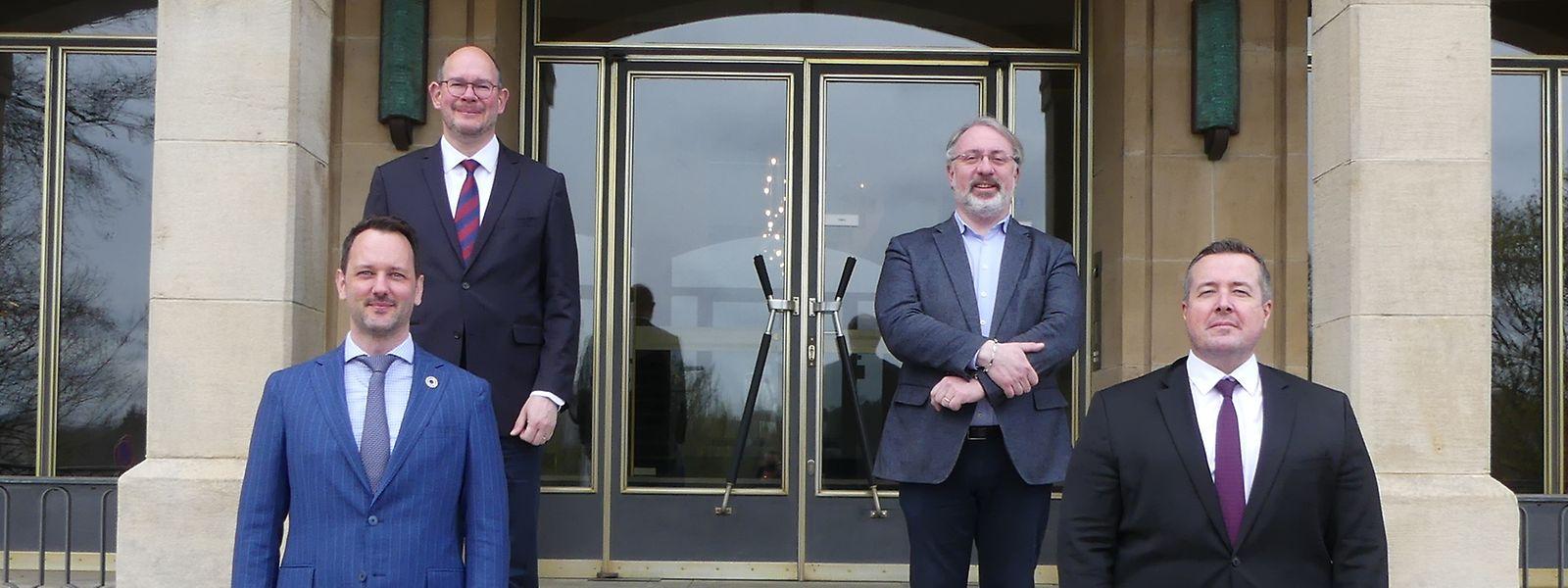 Christophe Schiltz (en bas à gauche) est membre du Conseil d'Etat depuis sept ans.