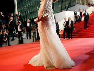 Le fameux tapis rouge devant le Palais des Festivals à Cannes.