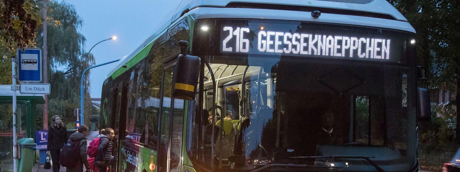 Rezente Zählungen auf den Linien 215 und 216 haben ergeben, dass sich seit dem Schulanfang die Auslastung der Kapazitäten der einzelnen Busse verändert hat.
