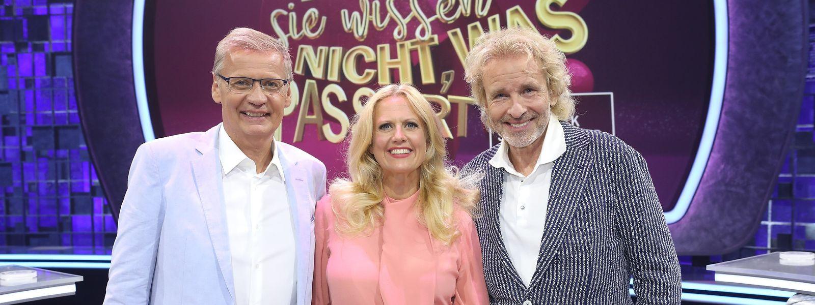 Günther Jauch, Barbara Schöneberger und Thomas Gottschalk (v.l.n.r.).