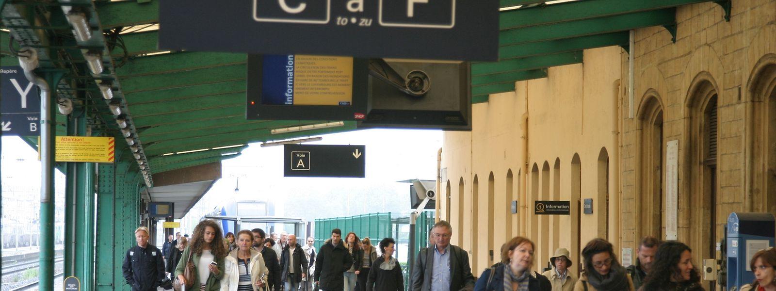 Les trains au départ de Thionville vers Luxembourg le matin sont les plus impactés
