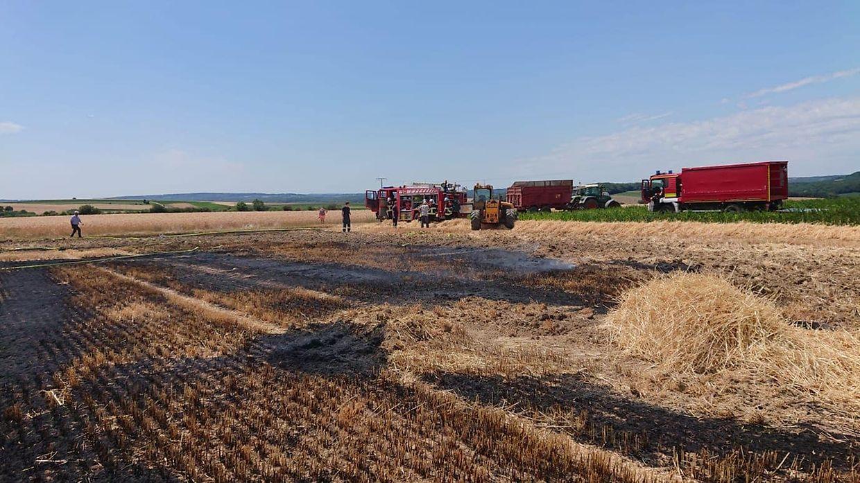 Kurz nach 13.30 Uhr wurden die Einsatzkräfte des CGDIS zu einem Brand in Beyren gerufen.