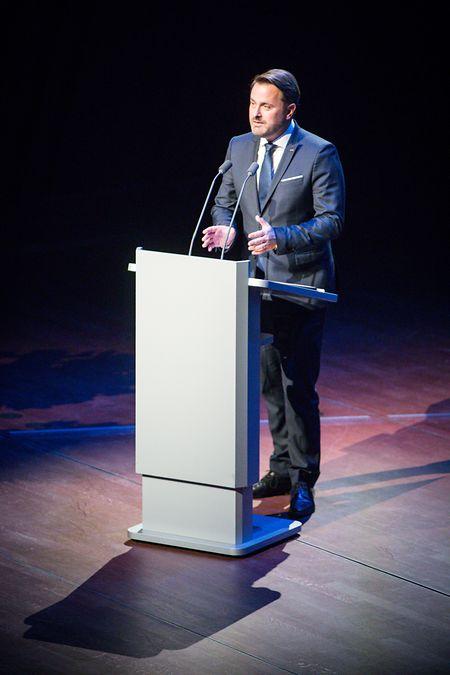 Premierminister Xavier Bettel hielt zu dem feierlichen Anlass in der Philharmonie eine Rede.