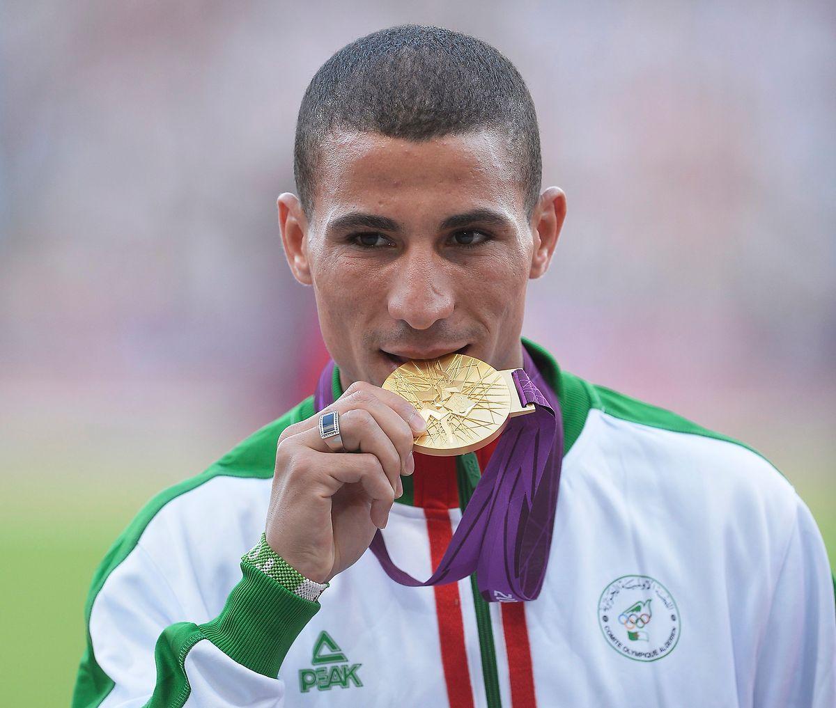 Taoufik Makhloufi holt in Rio die Goldmedaille über 800 m.