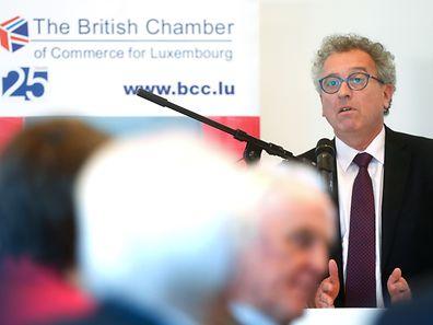 Pierre Gramegna au déjeuner co-organisé par la British Chamber of Commerce et son homologue britannique, la BCC.
