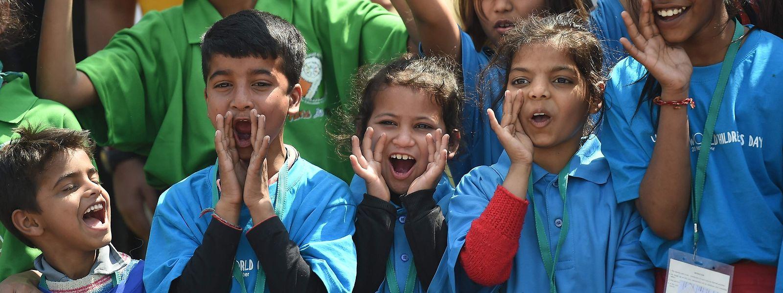 Partout dans le monde, comme à New Delhi, les enfants et les adolescents ont crié leur colère aux gouvernants