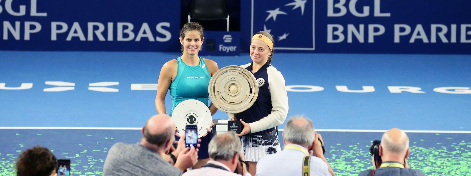 Les deux finalistes du BGL BNP Paribas Luxembourg Open 2019: Julian Gôrges et Jelena Ostapenko.