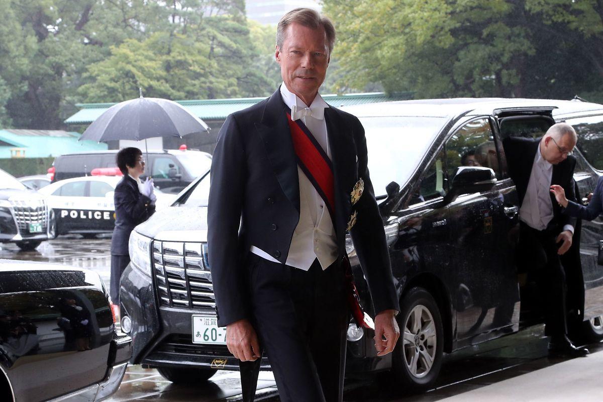 Grão-Duque do Luxemburgo esta manhã em Tóquio.