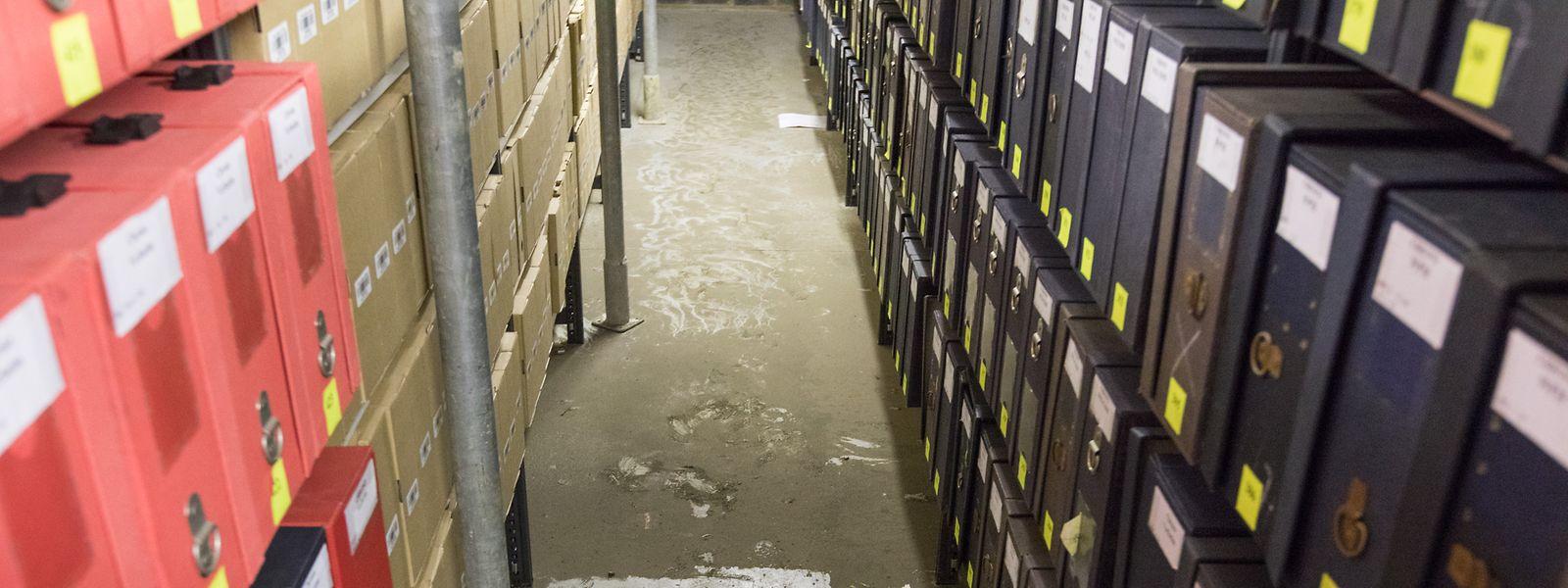 Tous les couloirs des Archives nationales ont désormais les pieds au sec.