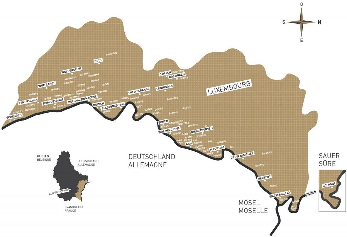 Les principales exploitations viticoles.