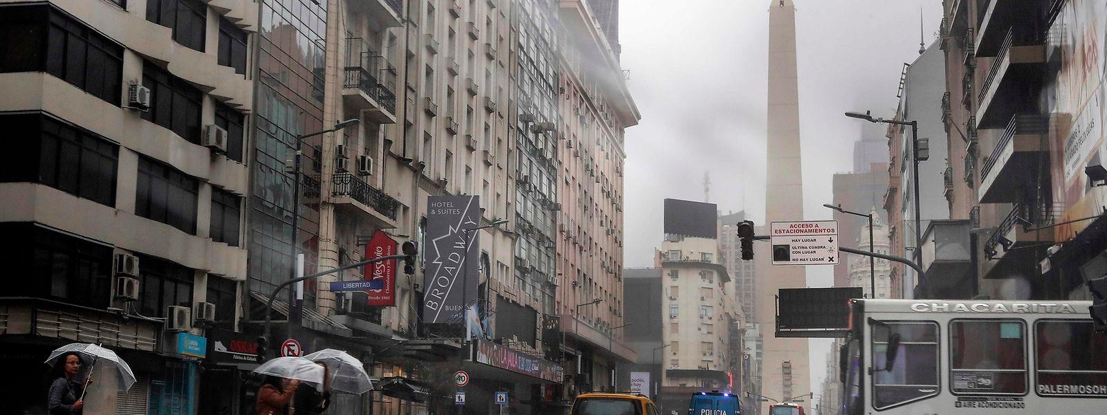 In der argentinischen Hauptstadt Buenos Aires blieben die Lichter aus.