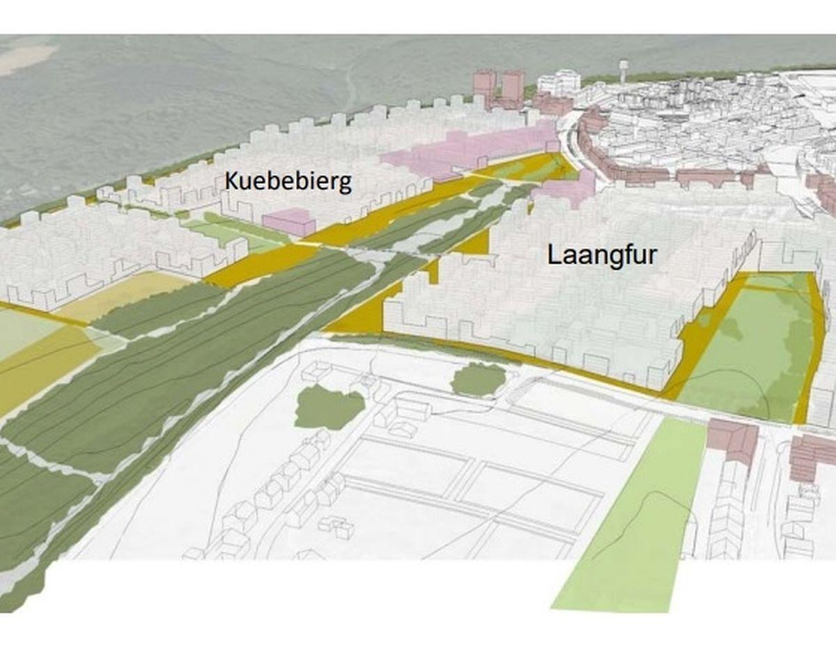 Le projet «Laangfur» est une partie d'un projet plus vaste baptisé «Op der Schleed», pour le Kirchberg.