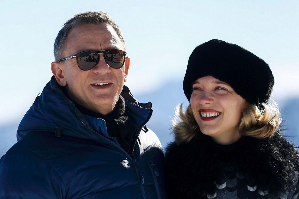 Daniel Craig bei einem Foto-Shooting mit Léa Seydoux.