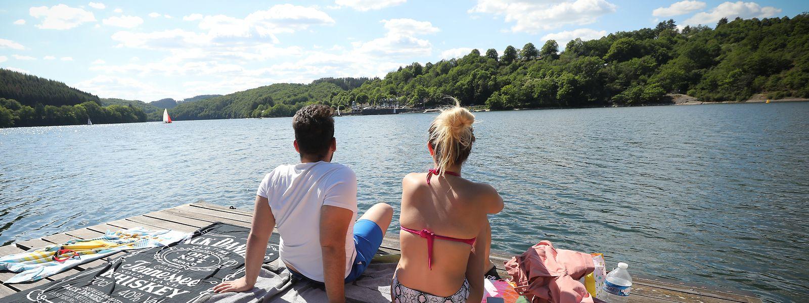 Ab Samstag kann man den Aufenthalt an den Badeufern des Stausees an den Wochenenden nur mehr nach Anmeldung genießen.