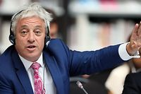 Speaker of the House of Commons John Bercow gestures during a meeting at the G7 parliaments summit, in Brest, western France on September 6, 2019. - The leaders of parliament of the Group of Seven leading democracies are meeting in France to discuss protecting the world�s oceans and other international cooperation issues. The G-7 includes the United States, France, Britain, Germany, Japan, Canada and Italy. (Photo by David Vincent / POOL / AFP)