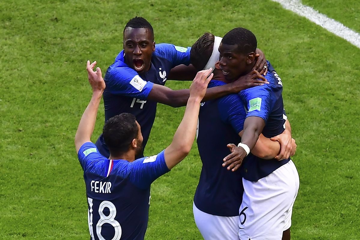 A França teve uma vitória sofrida contra a Austrália