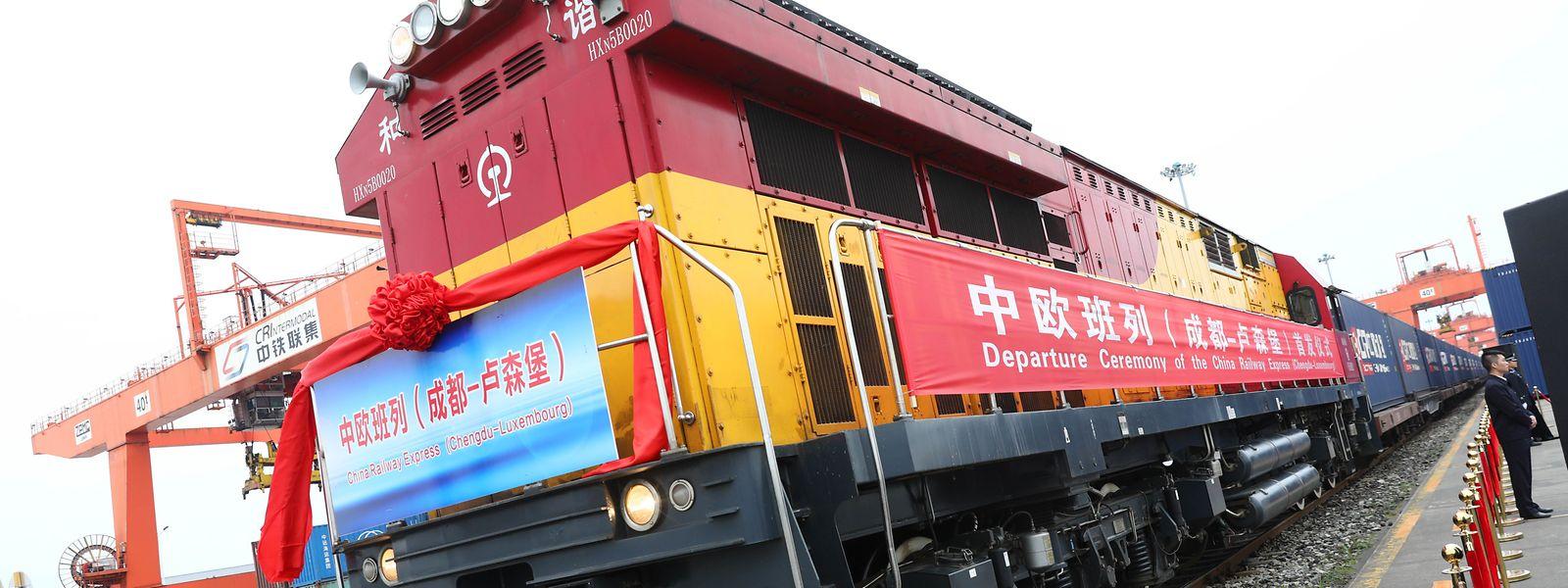 Parti de Chengdu le 19 octobre, le convoi test devrait arriver début novembre au centre multimodal de Bettembourg-Dudelange.