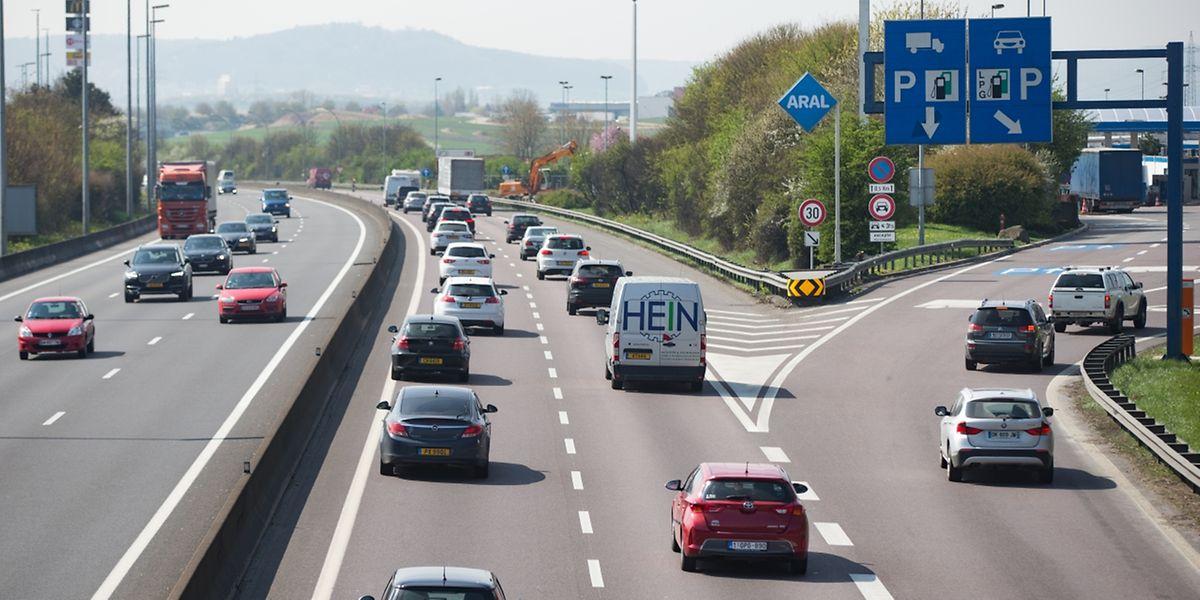 """Bei der Aire de Berchem besteht aktuell eine Sicherheitslücke, sagen die """"Ponts et chaussées"""". Dies soll mit dem Ausbau verbessert werden."""
