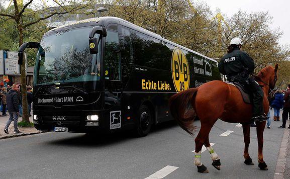 Vor dem Champions-League-Heimspiel gegen Monaco hatten Unbekannte einen Sprengstoffanschlag auf den Mannschaftsbus von Borussia Dortmund verübt.