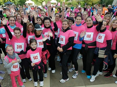 File photo of the 2014 edition of the Luxembourg breast cancer run