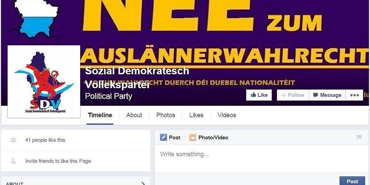 """Unter falscher Flagge? Ein Banner der Initiative """"Nee zum Auslännerwahlrecht"""" auf der Webseite der """"Sozial Demokratesch Vollekspartei""""."""