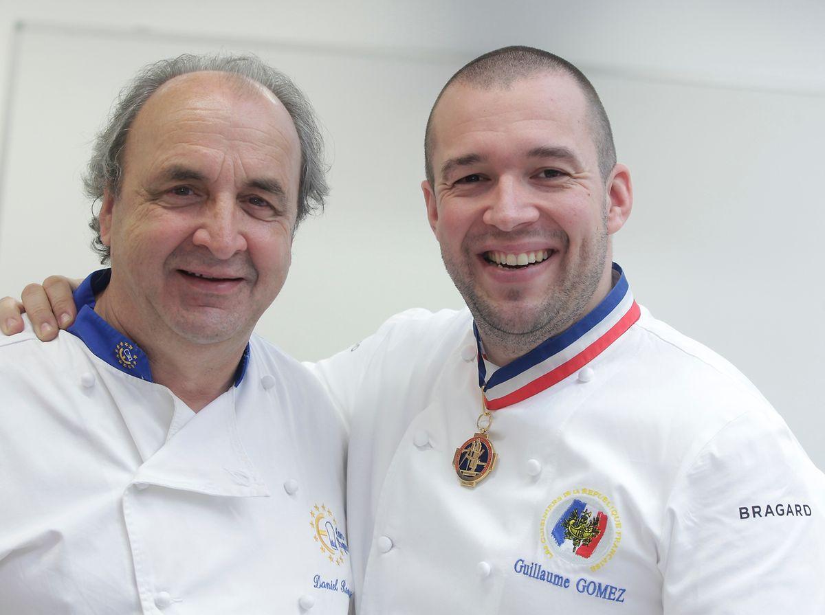 Daniel Rameau et Guillaume Gomez, chef des cuisines de l'Élysée.