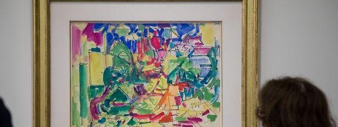 41 Werke von Hans Hofmann werden momentan im MNHA ausgestellt.