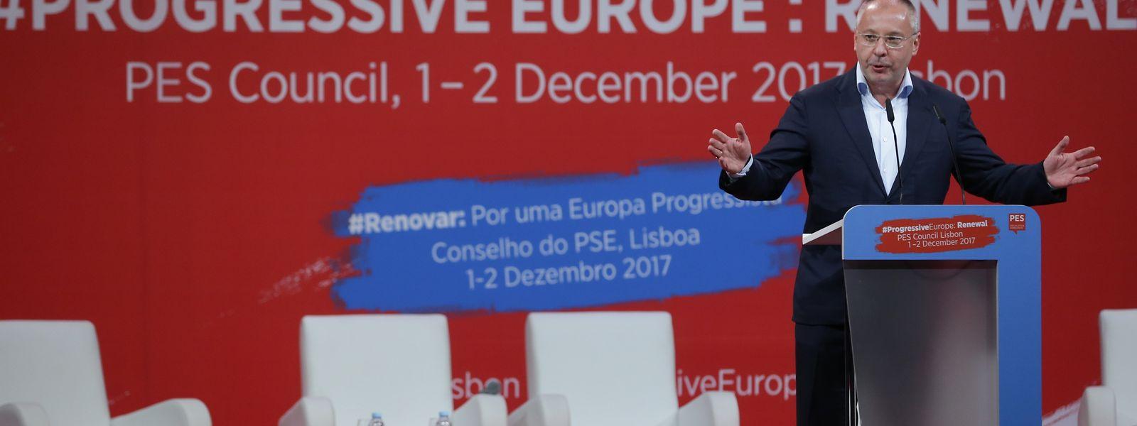 Sergei Stanishev, presidente do PSE, não quer uma Europa refém de conservadores e da extrema-direita