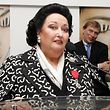 (FILES) In this file photo taken on January 27, 2005 opera singer Montserrat Caballe speaks after receiving the chevalier de l'Ordre de la L�gion d'Honneur at the Palais des Festivals in Cannes. - The famous Spanish soprano Montserrat Caball� died on October 6, 2018 at age 85 in Barcelona, according to the Sant Pau hospital sources in Barcelona. (Photo by Pascal GUYOT / AFP)