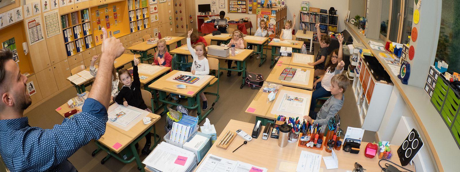 A l'école Billek à Dreiborn comme ailleurs dans le pays, élèves et enseignants sont dispensés de masque s'ils ne se déplacent pas.