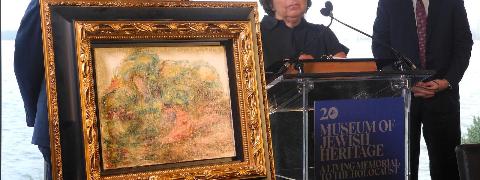 """Nach 78 Jahren geht """"Deux Femmes dans un jardin"""", eines der letzten Werke Renoirs, an die rechtmäßige Besitzerin Sylvie Sulitzer."""