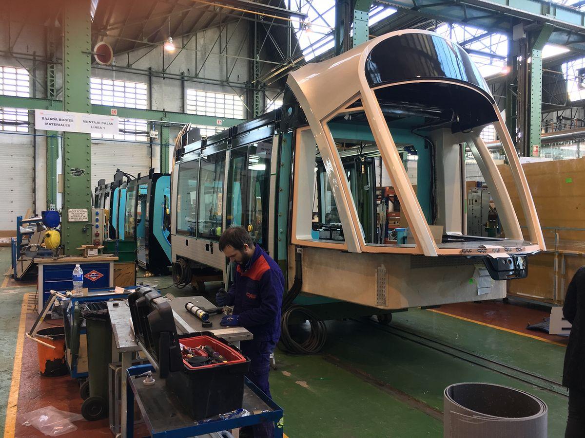 Dans les ateliers de CAF, seront construites 21 rames comme celle-ci.