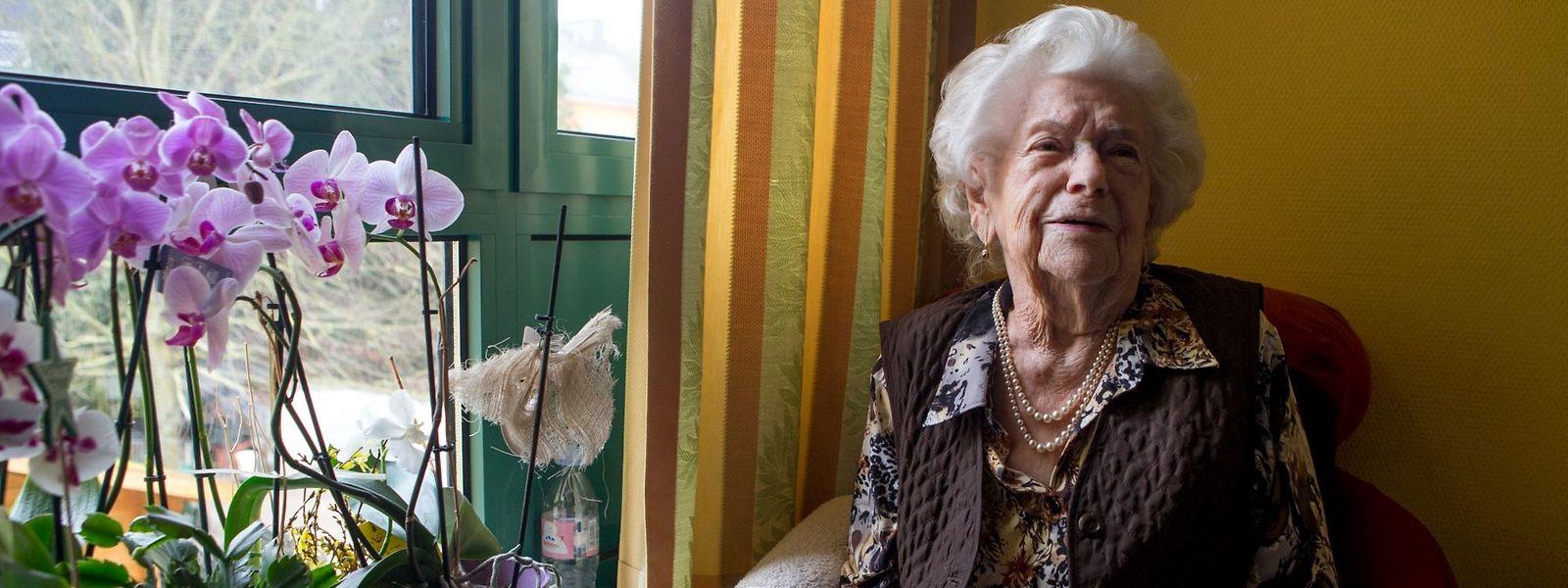 Die 108-jährige Barbara Schiltz-Jung lebte bis im Alter von 102 Jahren zuhause.