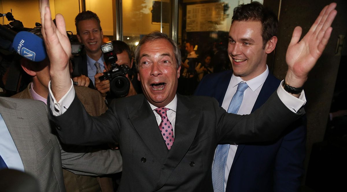 "Er feiert den Referendums-Tag als ""Independence Day"": Brexit-Befürworter Nigel Farage."