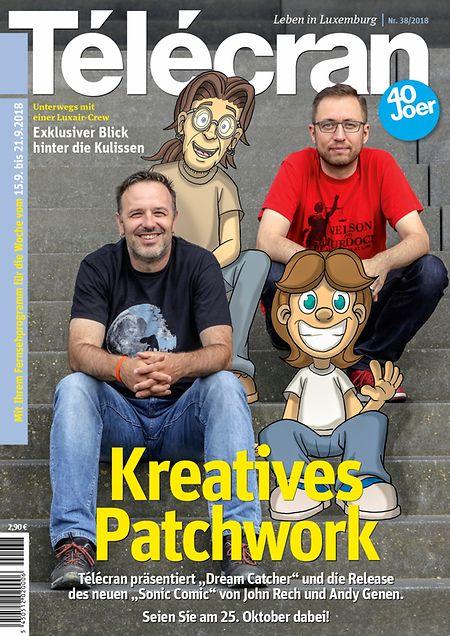 """Kreatives Patchwork: Télécran präsentiert """"Dream Catcher"""" und die Release des neuen """"Sonic Comic"""" von John Rech und Andy Genen / Unterwegs mit einer Luxair-Crew: Exklusiver Blick hinter die Kulissen"""