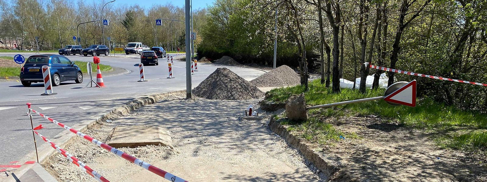 Der 50 Meter lange Ausbau verbindet den Weg zur Cloche d'Or mit jenem nach Hesperingen.