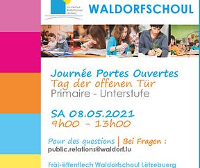 08.05.2021 TAG DER OFFENEN TÜR für die Unterstufe der Waldorfschule Luxemburg