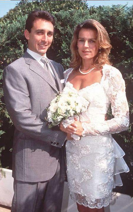 A princesa Stephanie do Mónaco casou-se com o seu guarda-costas, Daniel Ducruet.