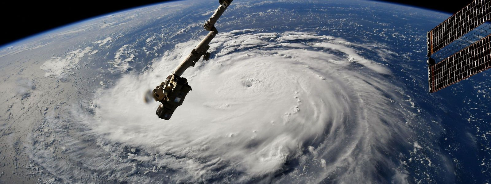 L'ouragan Florence vu depuis la Station spatiale internationale