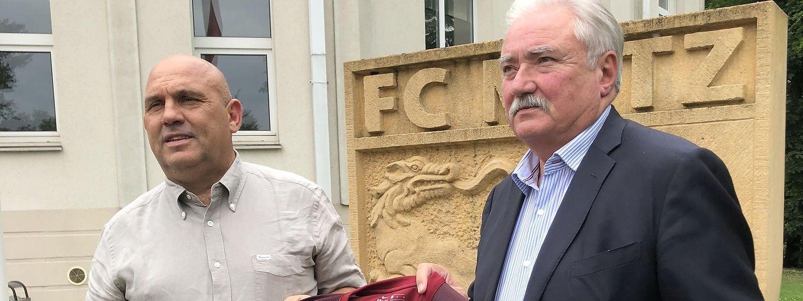 Frédéric Antonetti en compagnie du président Bernard Serin. La révolution est en marche chez les Grenats.