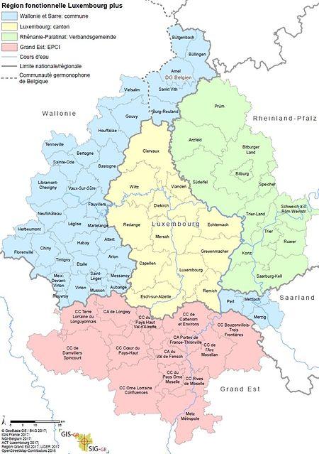 L'aire fonctionnelle du Luxembourg
