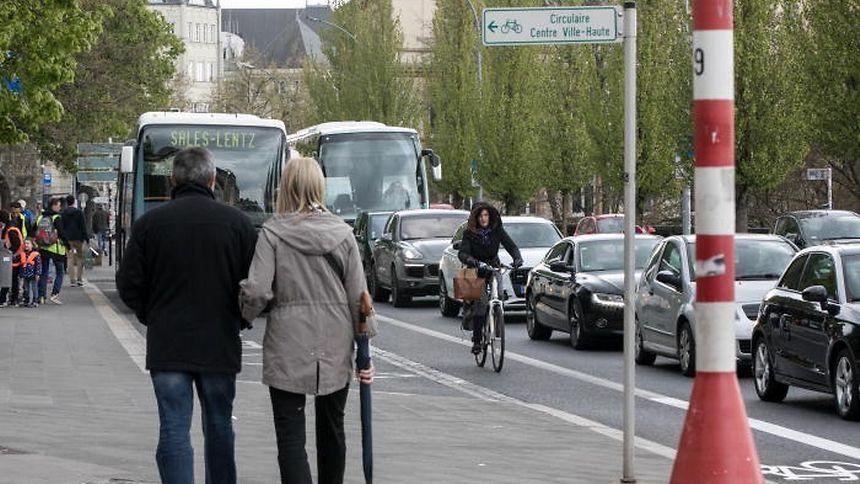 Zu viele Autos, zu wenige Fussgänger und Radfahrer: Die Ergebnisse der Luxmobil-Studie sprechen Klartext.