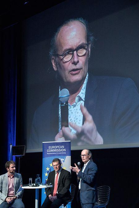 """""""In ein paar Jahren sind nachhaltige Energieproduzenten die Nummer eins in der Industriebranche"""", betont Claude Turmes am Montag in der Abbaye Neumünster."""