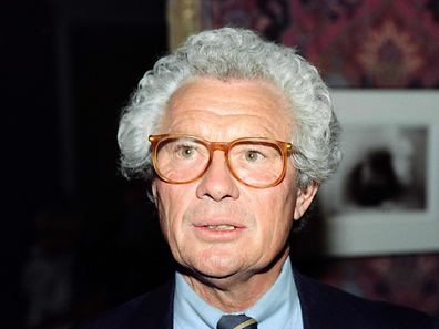 (FILES) This file photo taken on September 12, 1990 shows British photographer and film director David Hamilton during the opening of his exhibition. British photographer David Hamilton was found dead at his home in Paris aged 83, on November 25, 2016. / AFP PHOTO / Pierre GUILLAUD